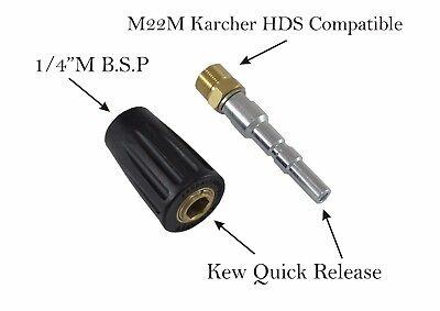 Limpiadora de alta presión cierre rápido Snap KEW compatible m22m Acoples Par