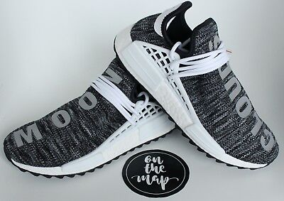 timeless design 783c3 ee812 ADIDAS PHARRELL HUMAN Race HU NMD Trail Oreo Black White Grey UK 5 6 7 8 9  10 11