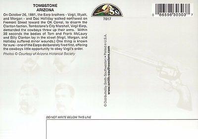 Wyatt Earp, Doc Holliday etc Gunfight OK Corral Tombstone Arizona 1881, Postcard 2
