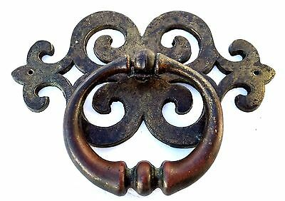 Brass Antique Hardware Mid Century Modern Vintage French Provincial Drawer Pull 2