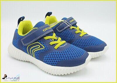 GEOX SCARPE PER ragazzo in tela sneakers da ginnastica bambino estive running 33