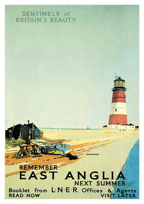 Wall art. Reproduction vintage Rail travel advertising poster East Coast LNER