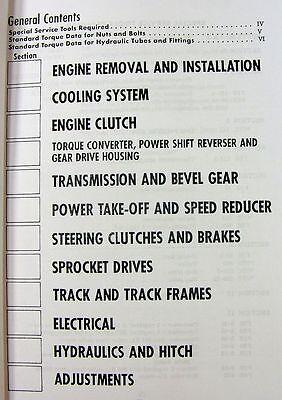 INTERNATIONAL 500-C 500C Crawler Tractor Service Operators Parts Manual  Catalog