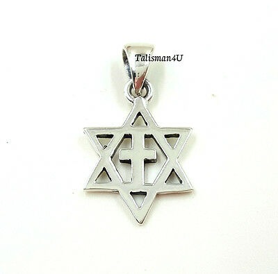 Sterling silver messianic pendant star of david with cross necklace 3 of 4 sterling silver messianic pendant star of david with cross necklace israel gift aloadofball Gallery