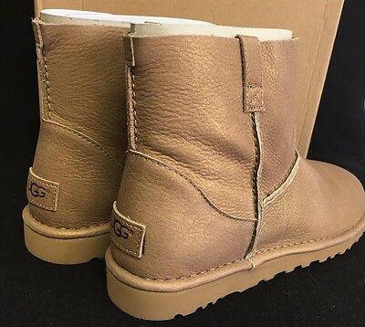cc11af8e7b6 UGG AUSTRALIA CLASSIC Unlined Mini Metallic Gold Women's 1018412 Spring  Boots