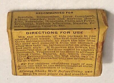 Antique Nature's Cure Blood Purifier Apothecary Pharmacy Box National Drug Co. 6