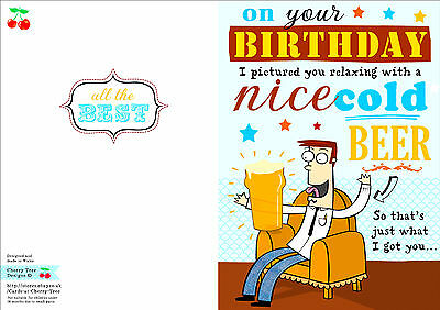 Male birthday card funny humour joke greetings beer 220 2 of 3 male birthday card funny humour joke greetings beer m4hsunfo