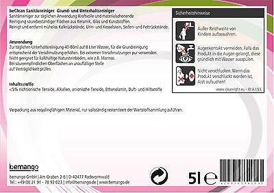 Sanitärreiniger Pink 5 Liter im  Kanister für Bad und WC 3