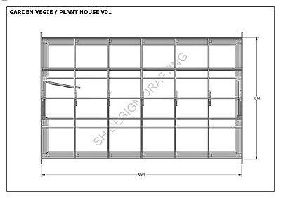 GARDEN HOUSE / GLASS HOUSE - GROW VEGIES & PLANTS - V01 - Building Plans 3D & 2D 10