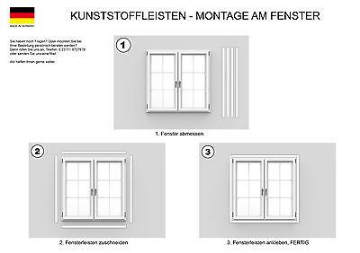 30mm 1,5mm Breite Fensterleiste selbstklebend weiss St/ärke 10m