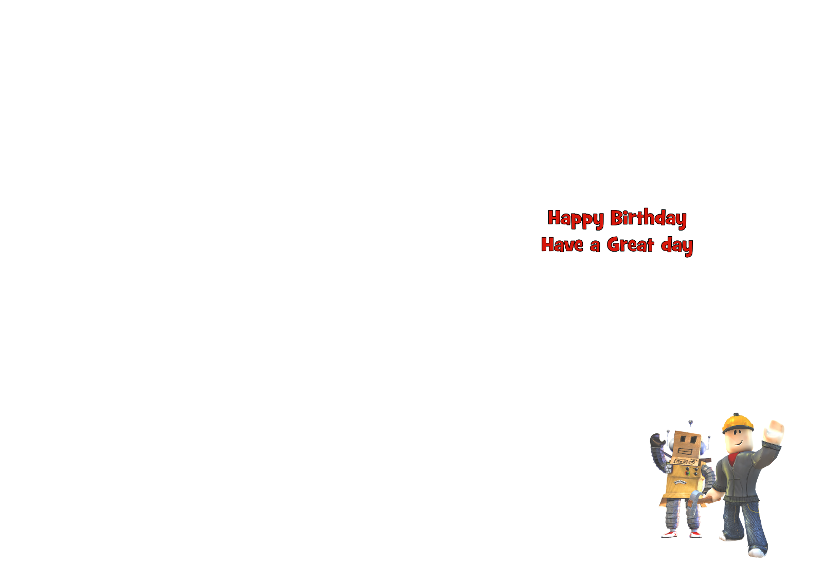 1 Of 2FREE Shipping Roblox Personalised A5 Birthday Card Son Brother Nephew Grandson Friend Name Age
