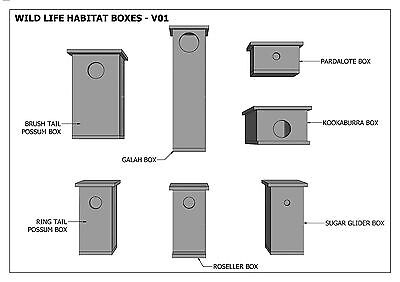 (BUILDING PLANS) for POSSUM BOX - ROSELLA - BIRD BOXES / HOUSE- & MORE - SAVE $$ 3