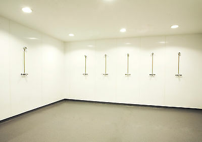 White PVC Hygienic Wall Cladding 2440 x 1220 Sheet 8ft x 4ft Panel Hotel Food mm 6
