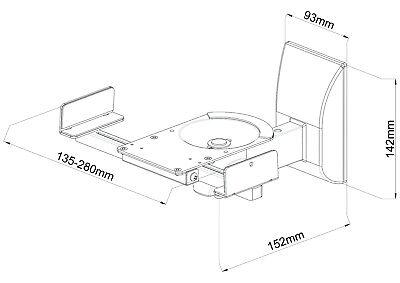 2x Boxen Halter Wandhalter Wandhalterungen Halterung Regalboxen für Lautsprecher