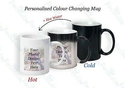 Personalised Magic Mug Secret Santa Gift Colour Changing Cup Image Photo Text 2