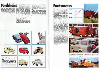612df07ded ... Ford Transit Mk1 1968 UK Market Foldout Sales Brochure SWB LWB Van Bus  Kombi 2