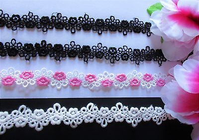 Very pretty high quality flower Lace trim price by the yard //select color//