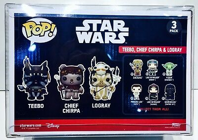 1 Box Protector For FUNKO POP! Smaller 3 packs.  Ewoks, Snap, Rush Etc.  READ!!! 8