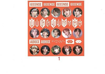 AB6IX 6IXENSE Authentic PHOTO CARD BOOKMARK ENVELOPE PHOTOCARD kpop KOR SELLER 10