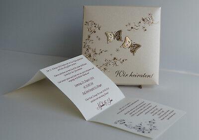 Schön 4 Von 6 Einladungskarte Hochzeit FEB01 Einladungsbox Schmetterling