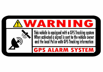 2 x GPS TRACKING Security Stickers Car Motorbike Scooter Motorcycle 80mm x 35mm