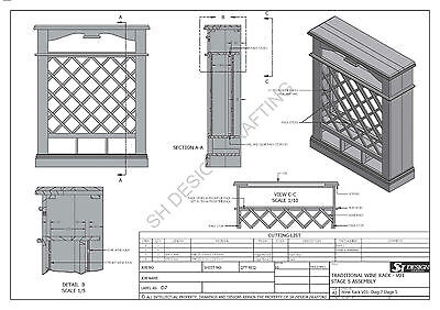 SOLID TIMBER WINE RACK + DRAWERS - Make Your Own & SAVE $ - Full Plans 2d & 3D 8