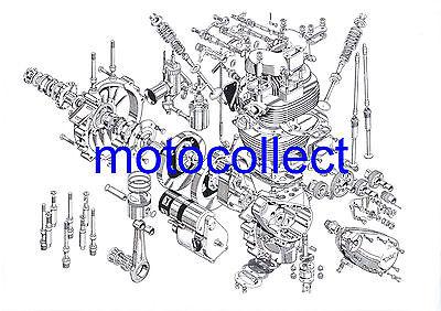JAWA Speedway Bike Detailed  Drawing..A3 Print..Free Postage Worldwide
