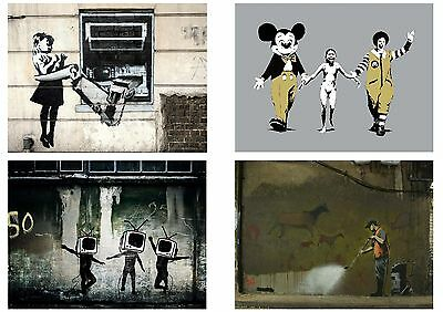 Banksy Graffiti Street Art Pack 12 Posters Collection / Set 12 Prints Hp4139 3