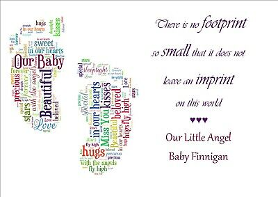 Memorial Keepsake Card Bereavement Miscarriage Stillborn Baby Loss Memory Print 8