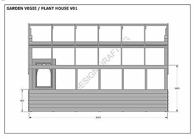 GARDEN HOUSE / GLASS HOUSE - GROW VEGIES & PLANTS - V01 - Building Plans 3D & 2D 8