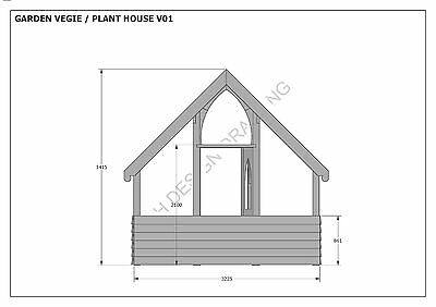 GARDEN HOUSE / GLASS HOUSE - GROW VEGIES & PLANTS - V01 - Building Plans 3D & 2D 9