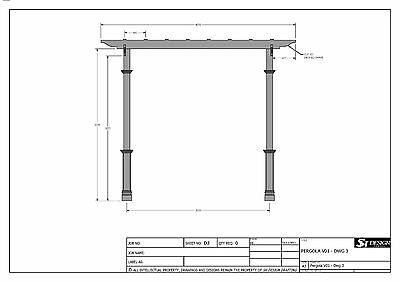 8 Of 12 GRAPE VINE PERGOLA   OUTDOOR PATIO COVER V1   Full Building Plans