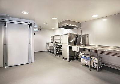 White PVC Hygienic Wall Cladding 2440 x 1220 Sheet 8ft x 4ft Panel Hotel Food mm 4