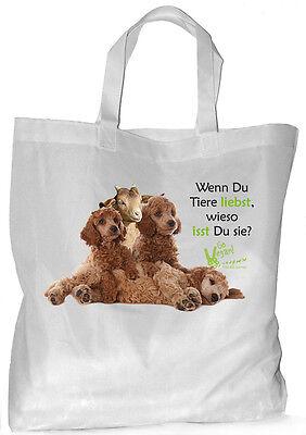 Tierrecht - Einkaufsbeutel Tasche VEGGIE Beutel Einkaufstasche - GO VEGAN 54 2