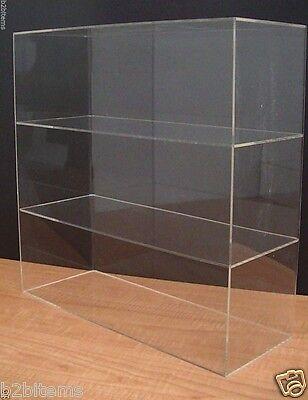 "Acrylic Counter top Display Case 16"" x 6"" x 16"" Show Case Cabinet Shelves"