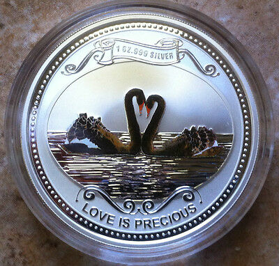 2017 Niue 1 oz Silver $2 Love is Precious Lovebirds Coin VALENTINE//ANNIVERSARY