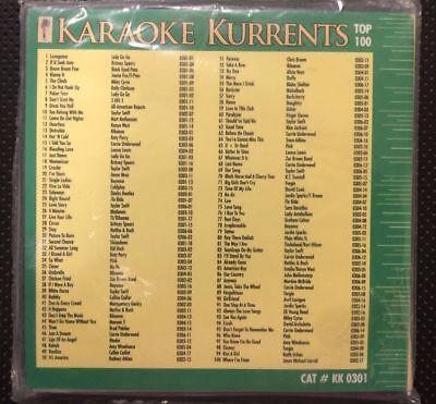 Karaoke Kurrents June 2009 Cdg 6 Discs 100 Songs Pop, Rock, Urban & Country 2