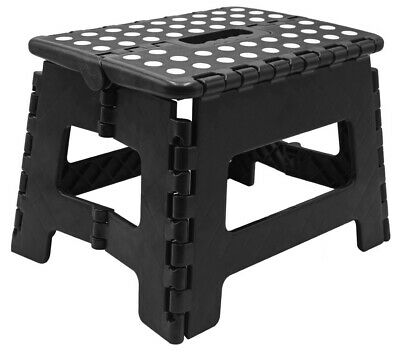 Heavy Duty Plastic Step Stool Foldable Multi Purpose Home Kitchen Use Easy Store 3