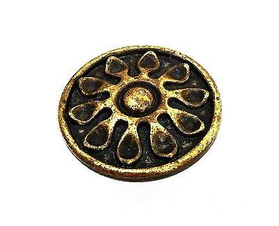 "Antique Hardware Modern antique brass drawer pull ""Sunflower""..cabinet knob 5"
