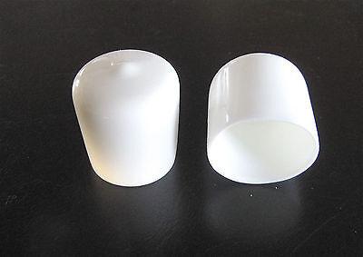 "8 - 1"" White Vinyl Round End Caps 1.0""  Plastic Rubber Pipe Tube Rod Bar Cap 2"