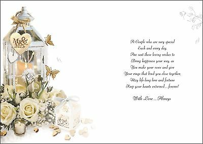 Daughter And Son In Law Wedding Day Card Luxury Verse Made