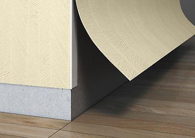 Tapeten-Leiste Ecke Kunststoff-Winkel Kantenschutz |  (Außen) weiß | 260cm lang