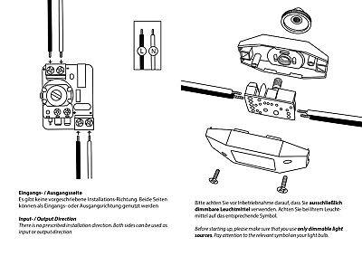 LED Dimmer Schnurdimmer 230V 1-40 Watt geräuschlos stufenlos dimmen incl. An/Aus