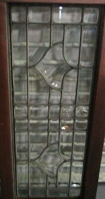 Heavy Duty Smaller Size Antique Arts & Crafts All Beveled Glass Window # 588 2