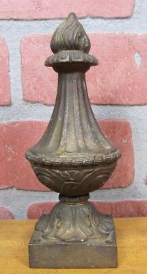 Antique Brass Flame Finial Ornate Original Old Architectural Hardware Element 7