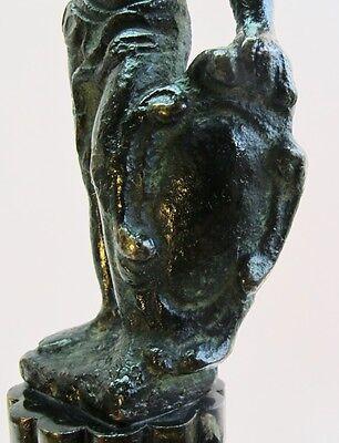 Rare ANCIENT ROMAN BRONZE Sculpture of Gladiator c. 300 AD  Antique Wood Stand 7