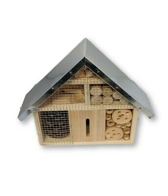 Insect Wooden Hotel Nest Home Bee Keeping Bug Ladybird Garden Pollination Box 7