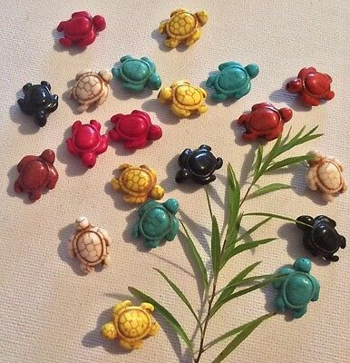 Perlen - 21 Steinschildkröten Bunt 20 X 15 Mm (50/1) 5