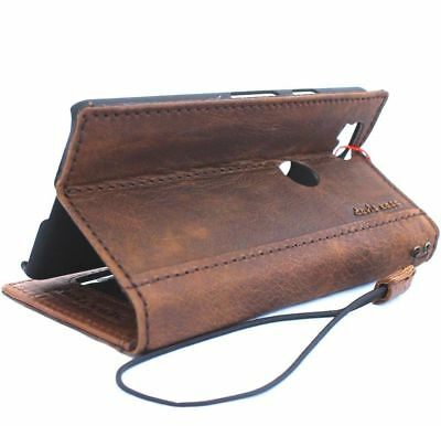 genuine real vintage leather case for Google Pixel 2 book wallet cover holder ID 6