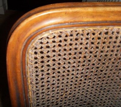 Antique wicker/rattan chair with wooden legs 3